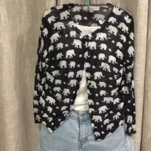 Sweater - LOFT - Elephant and Babies - AWWWWW - SM